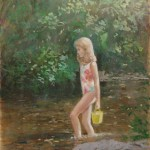 Young Girl Paddling (sold)